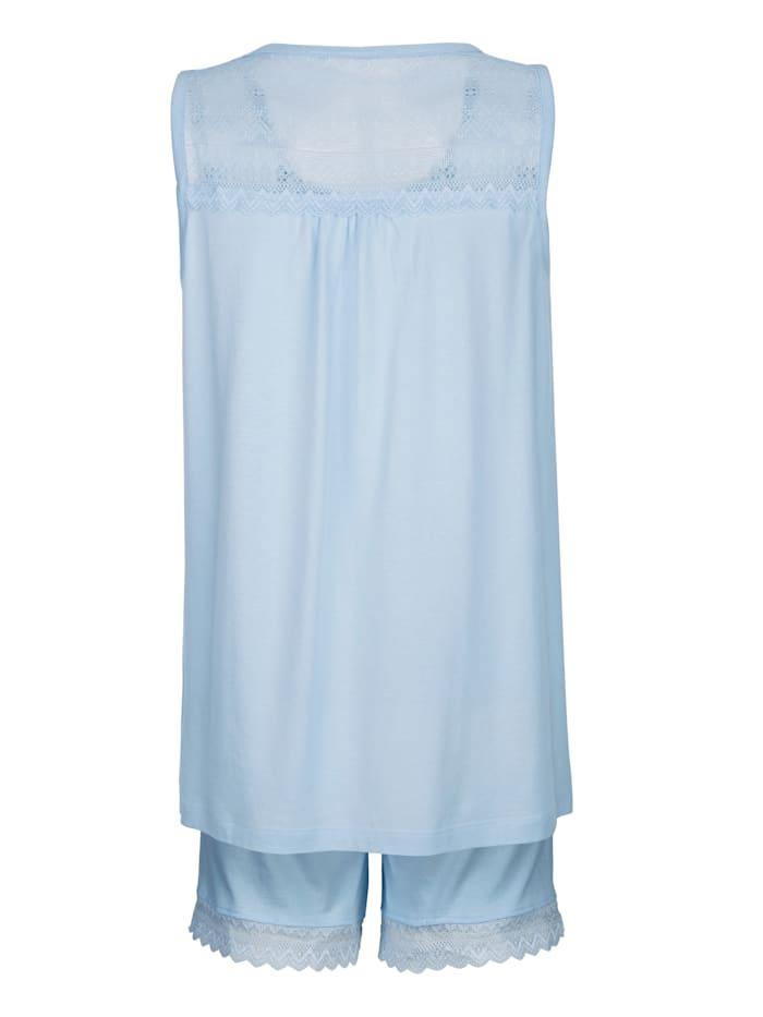 Pyjashort avec dentelle décorative au dos