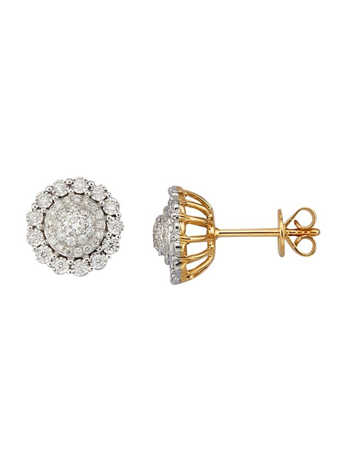 Diemer Diamant Ohrstecker mit Brillanten, Weiß