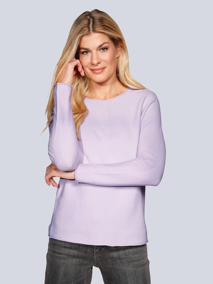OUI Pullover in leichter Qualität, Flieder