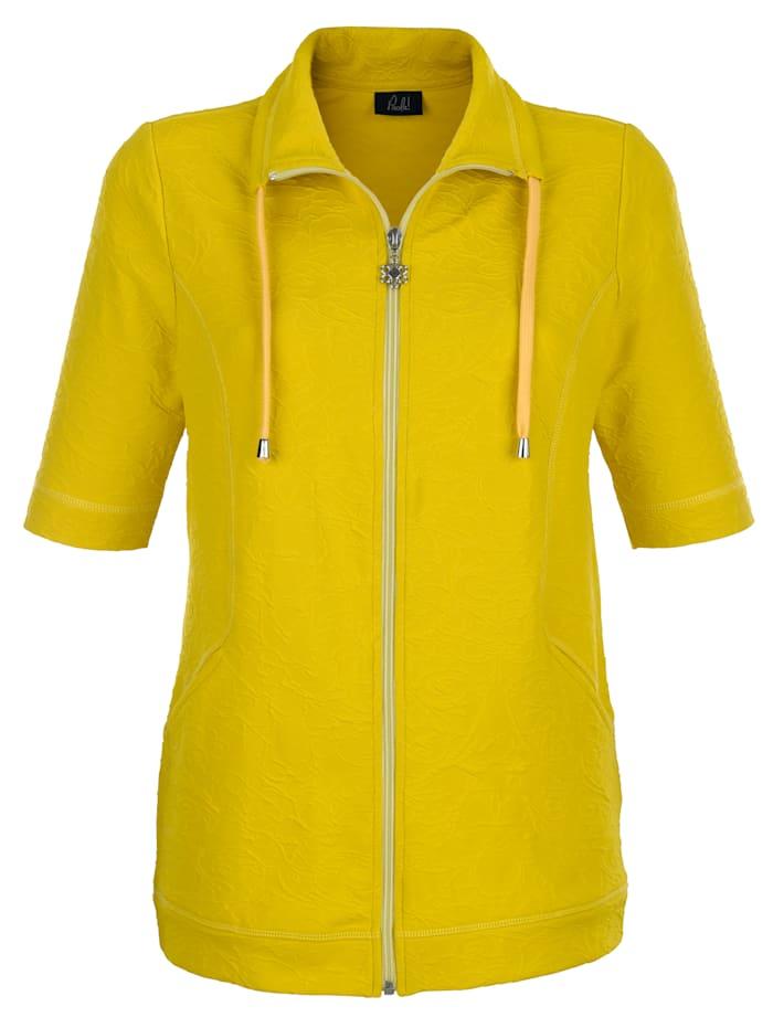 Sweat bunda zo štruktúrovanej žakárovej tkaniny