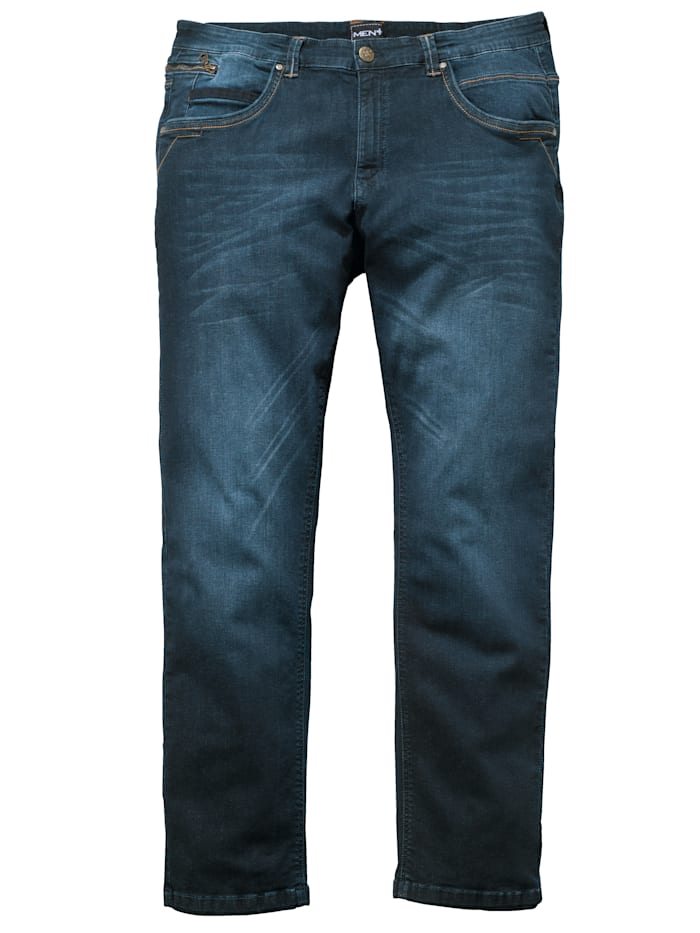 Men Plus Džínsy v strihu Straight Fit, Dark blue