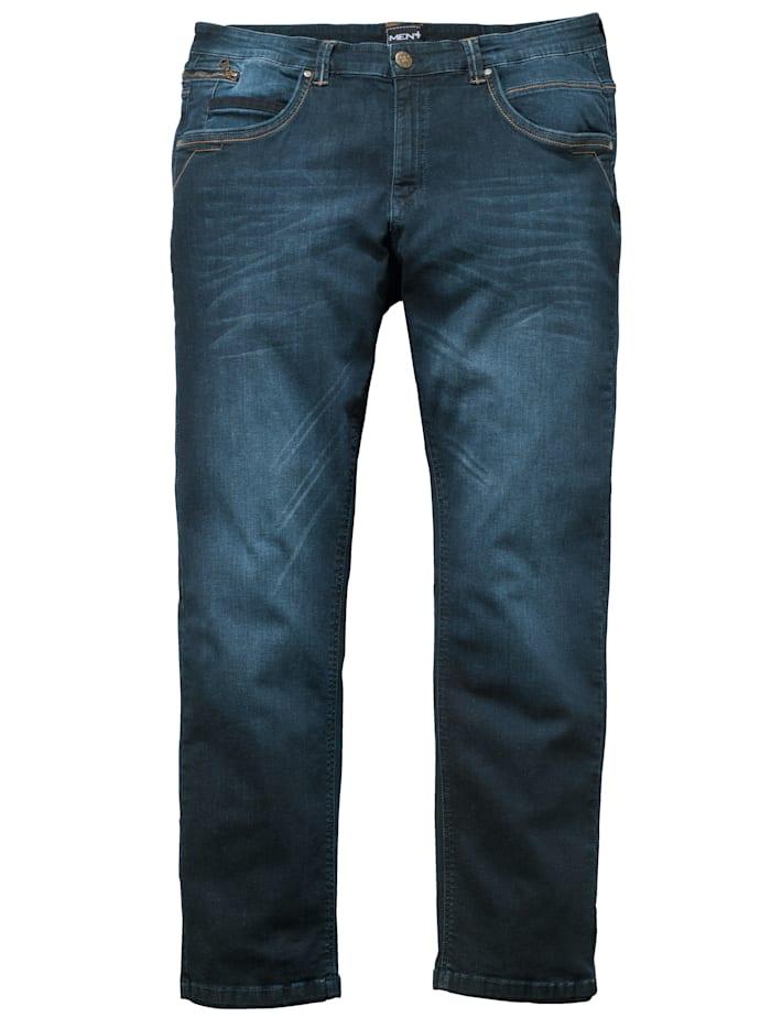 Men Plus Jeans in Straight Fit model, Dark blue