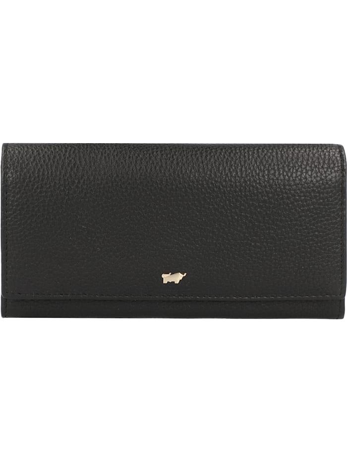 Braun Büffel Asti Geldbörse RFID Leder 19 cm, schwarz