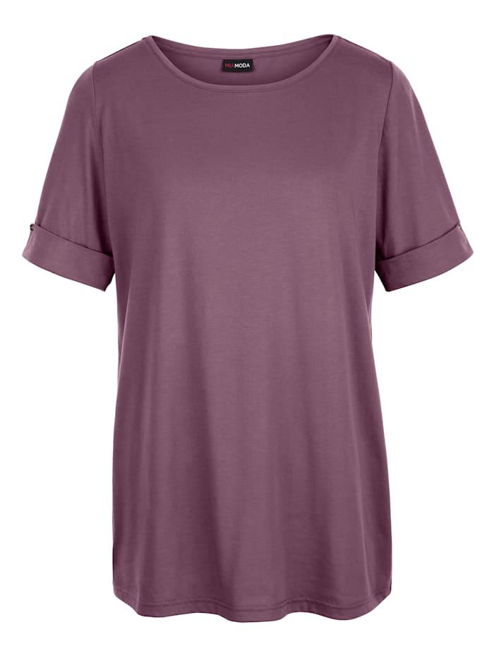 Shirt mit fixiertem Umschlag am Arm