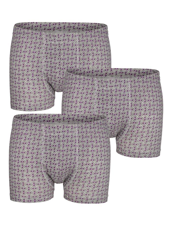 BABISTA Boxershorts met print rondom, Paars/Zwart