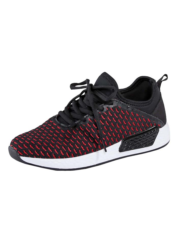 Sneaker met elastisch bovenwerk