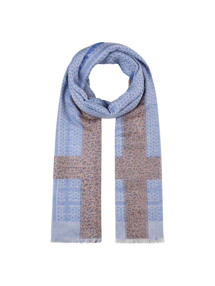 Codello Oversized-Schal im Mustermix, jeans blue