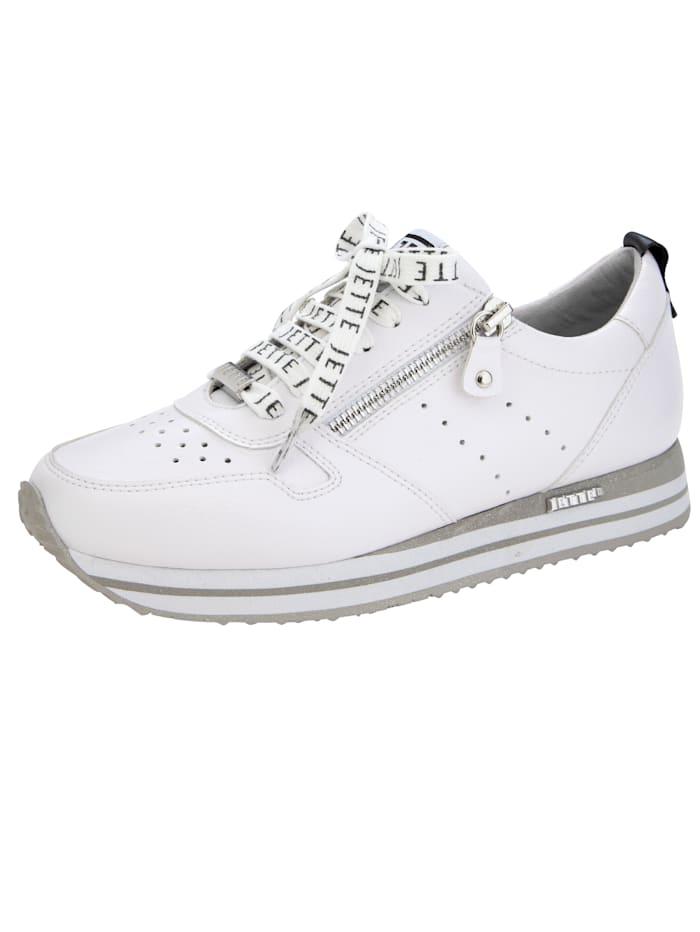 Jette Sneaker mit modischen Schnürsenkeln, Weiß