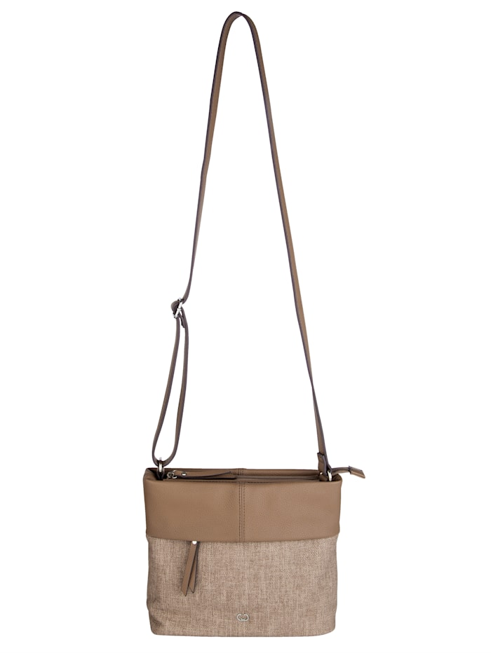 Shoulder bag in a chic embossed finish