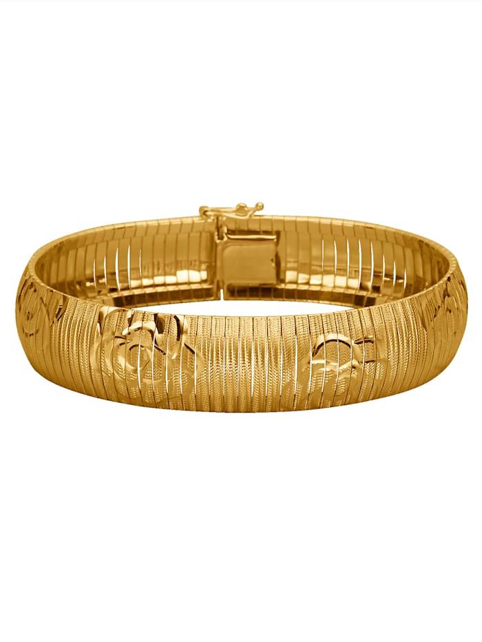 Bracelet facetté, Coloris or jaune