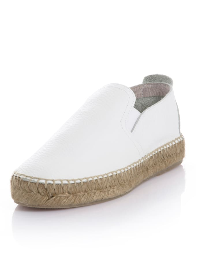 CINQUE Espadrille aus weichem Leder, Weiß