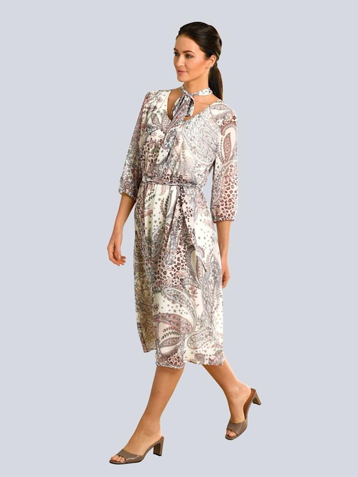 Kleid mit abnehmbarer Schluppe