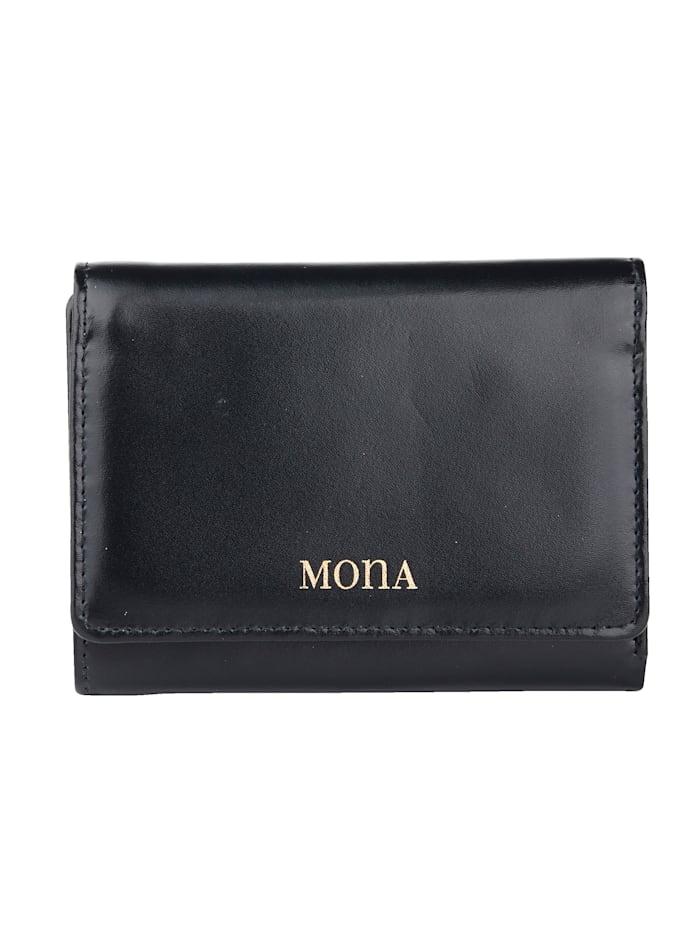 MONA Porte-monnaie avec nombreux compartiments, Marine