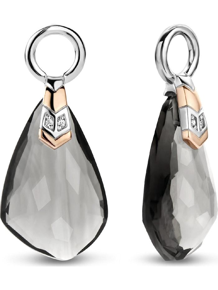 Ti Sento Milano Ti Sento - Milano Damen-Ohrringe 925er Silber Zirkonia, bicolor