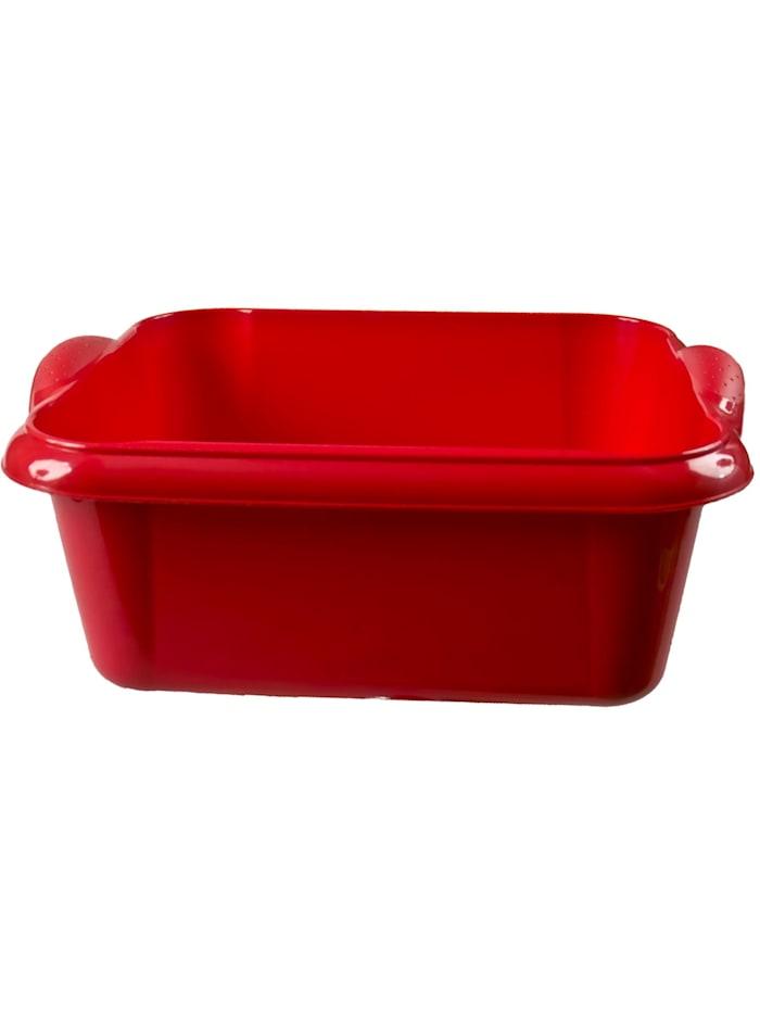 HTI-Living Spülschüssel 10 Liter Quadratisch, Rot