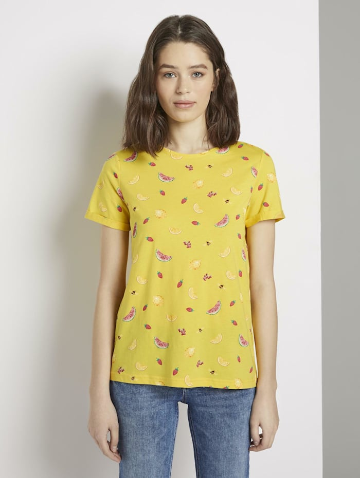 Tom Tailor T-Shirt mit Print, yellow fruit design