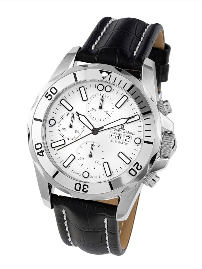 Jacques Lemans Herren-Uhr-Automatik-Chronograph Serie: Liverpool Automatic, Kollektion: Classic: 1- 1926B, Schwarz