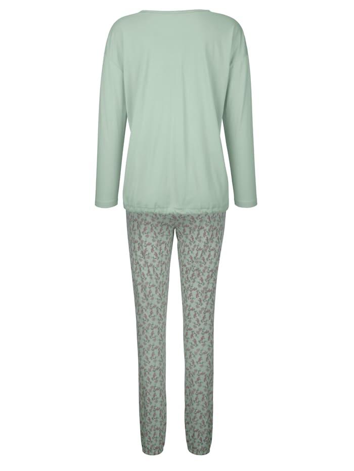 Pyjamas med knytband i nederkant