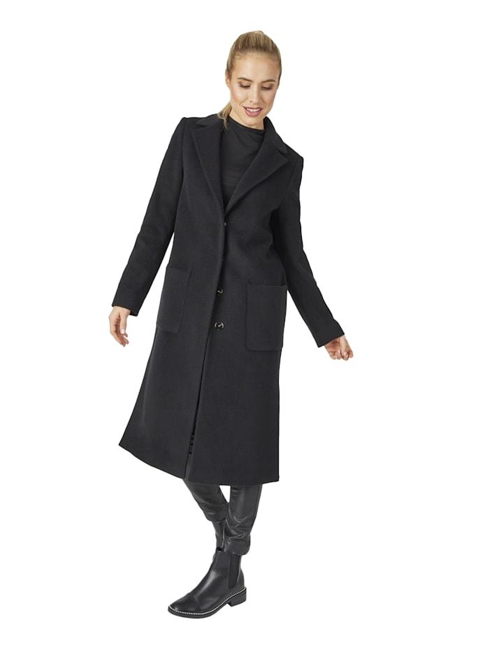 Daniel Hechter Modischer Mantel in schlichtem Design, black