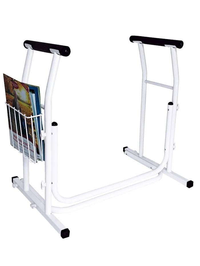 Rehaforum Toilettensicherheitsgeländer das leichte mobile Geländer aus Stahl, Weiß