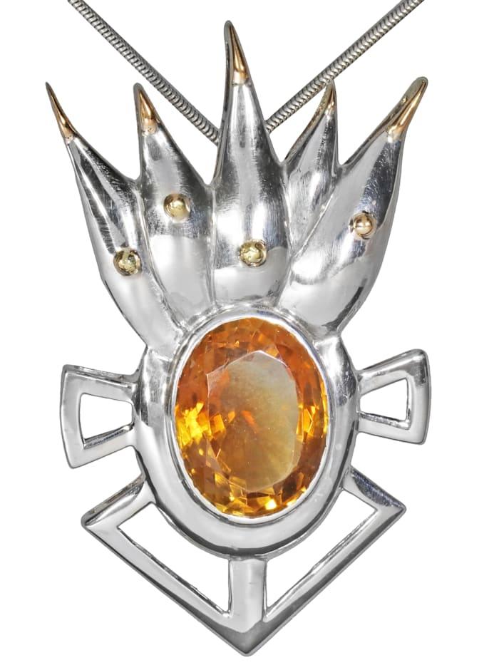 1001 Diamonds Damen Schmuck Edelstein Apophyllit Anhänger 925 Silber grün, grün