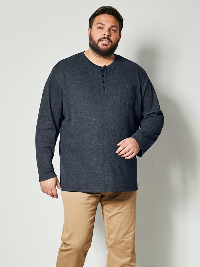 Shirt in gemêleerde look