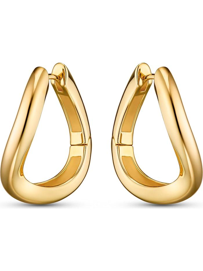Jette JETTE Damen-Creolen 925er Silber, gelbgold