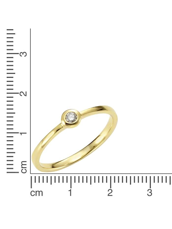 Ring 585/- Gold Brillant weiß Brillant Glänzend 0.05 Karat 585/- Gold