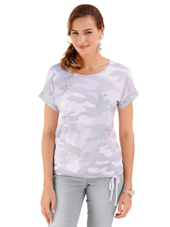 Shirt mit dekorativem Pailletten-Besatz im Vorderteil