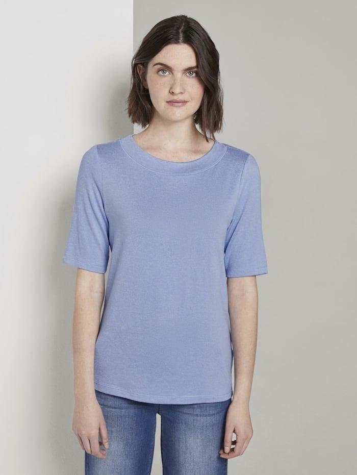 Tom Tailor Meliertes T-Shirt, parisienne blue melange