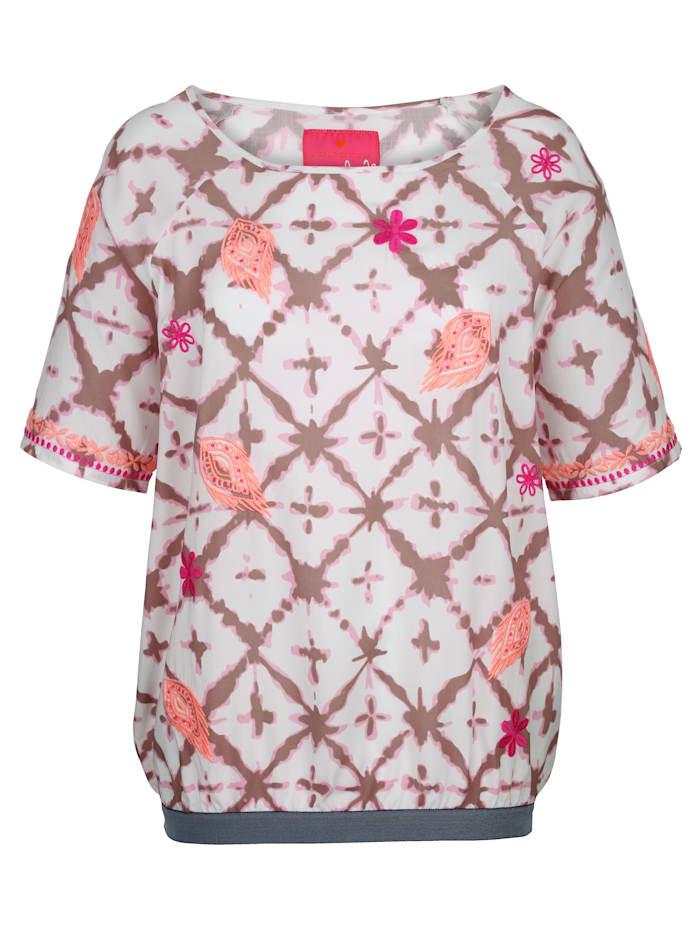 Blouse à imprimé batik