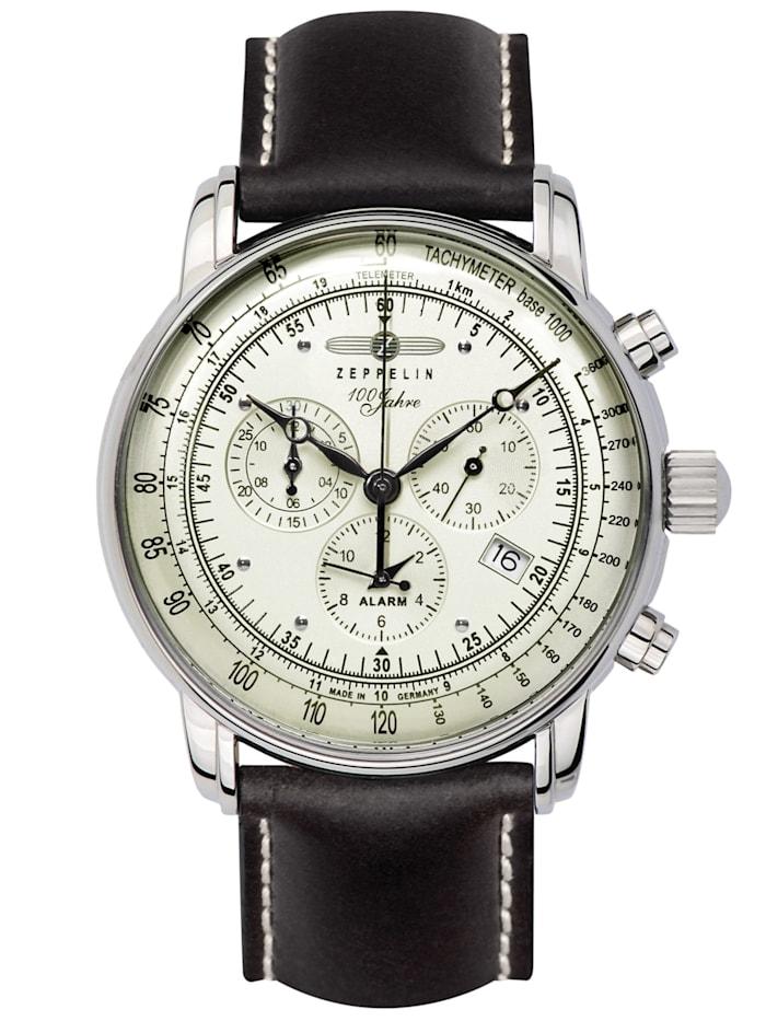 Zeppelin Alarm-Herrenchronograph 100 Jahre Zeppelin, Weiß