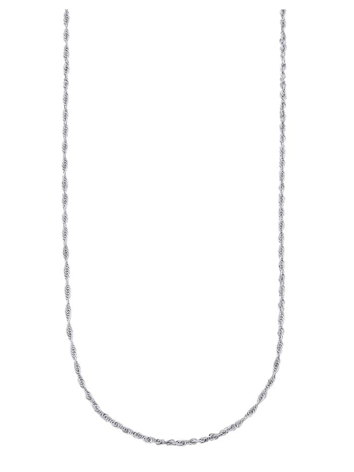 Kordelkette in Gelbgold 585, Silberfarben