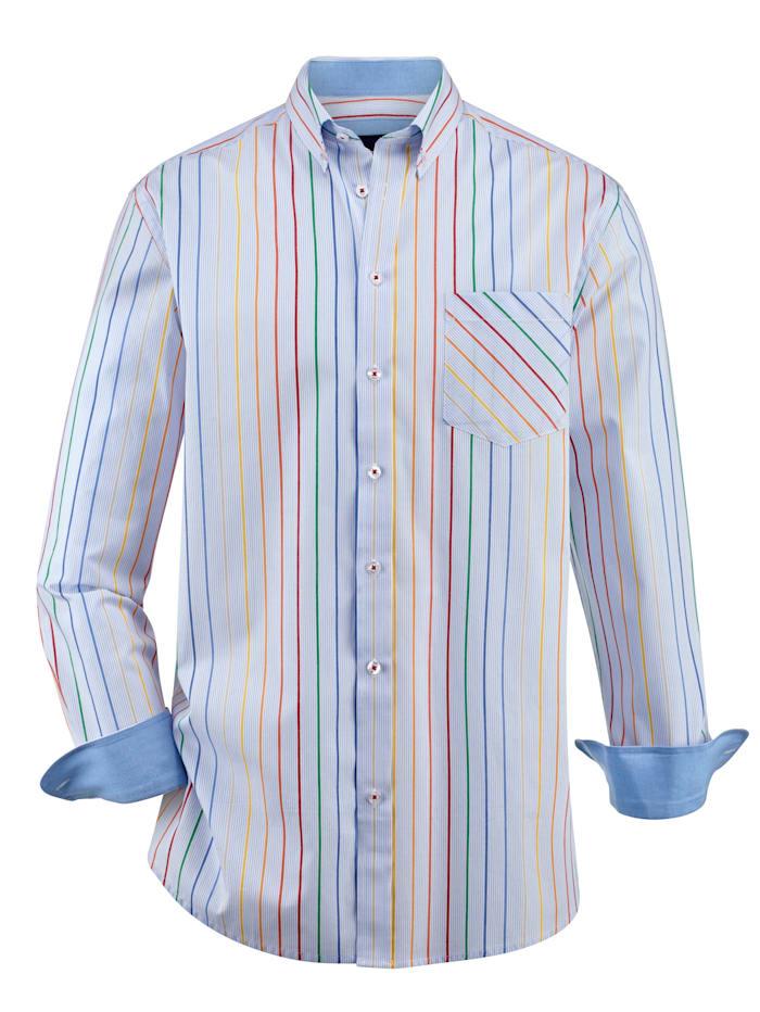 BABISTA Košeľa s 1 náprsným vreckom, Modrá