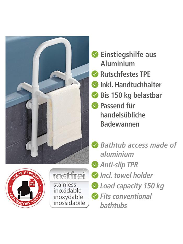 Badewannen-Einstiegshilfe Secura Weiß, verstellbar, belastbar bis 150 kg