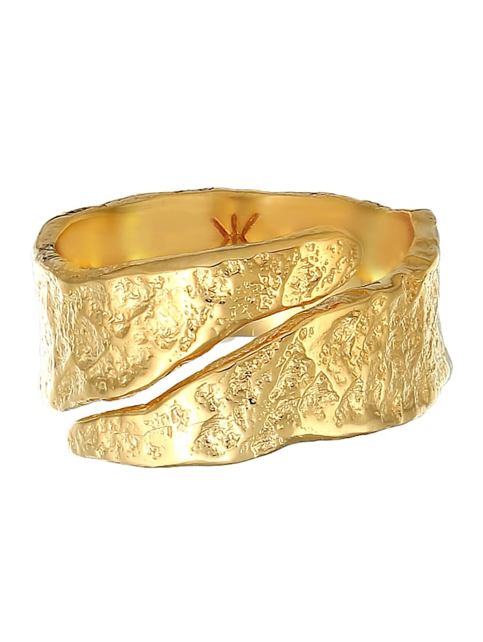 Ring Bandring Struktur Used Look 925 Silber