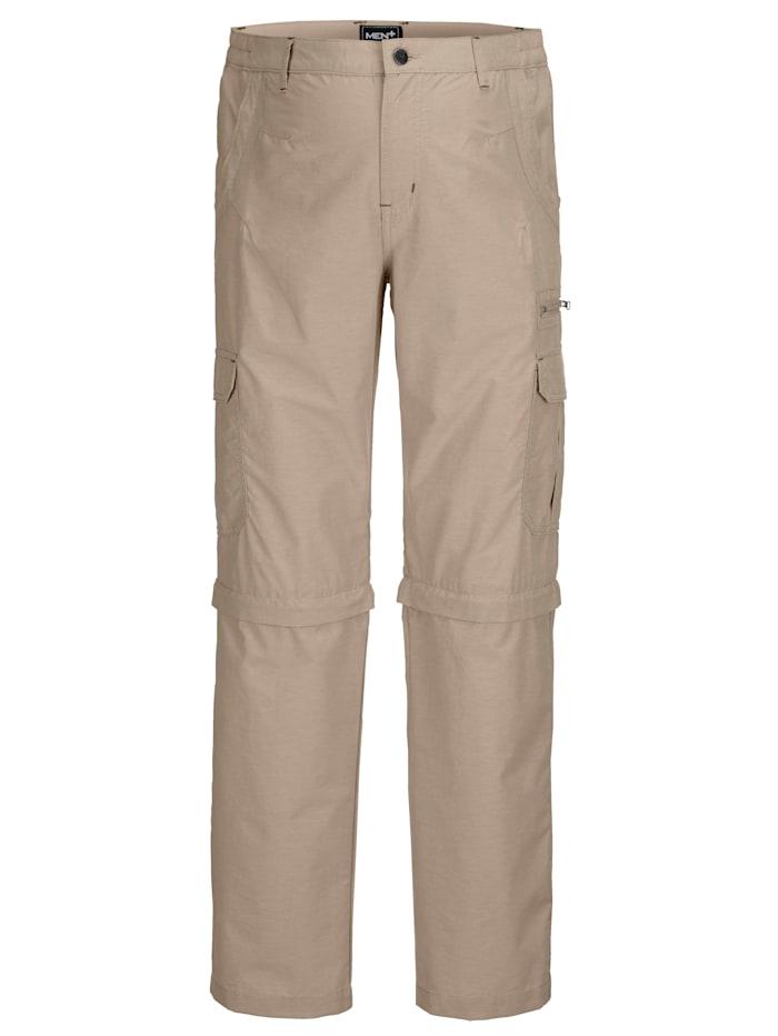 Men Plus Kalhoty Zipp-Off, Béžová