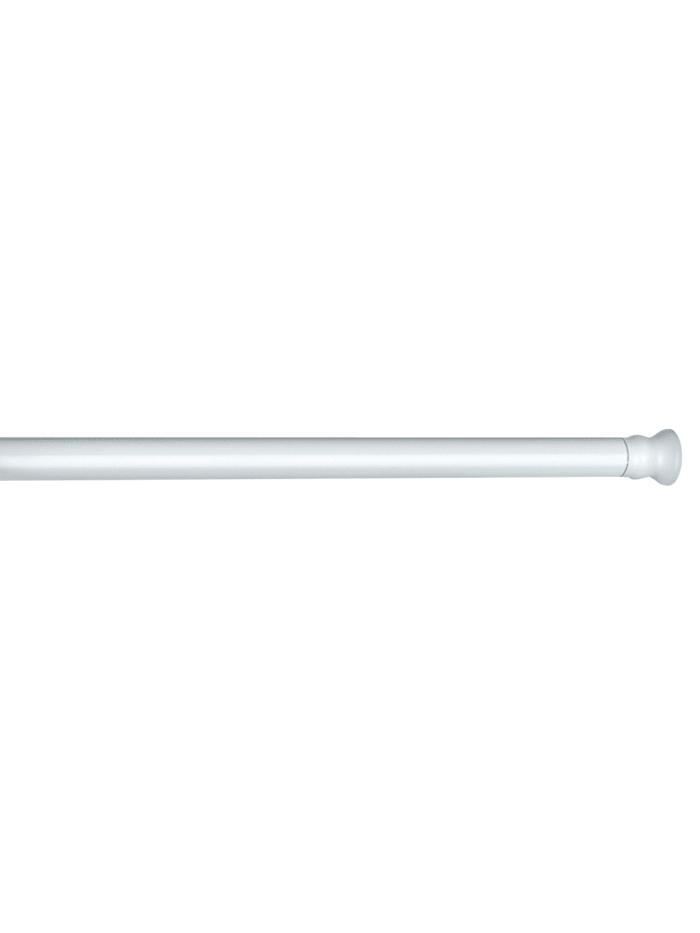 Wenko Teleskop Duschstange extra stark Weiß 110 - 185 cm, Duschstange: Weiß, Endkappen: Weiß
