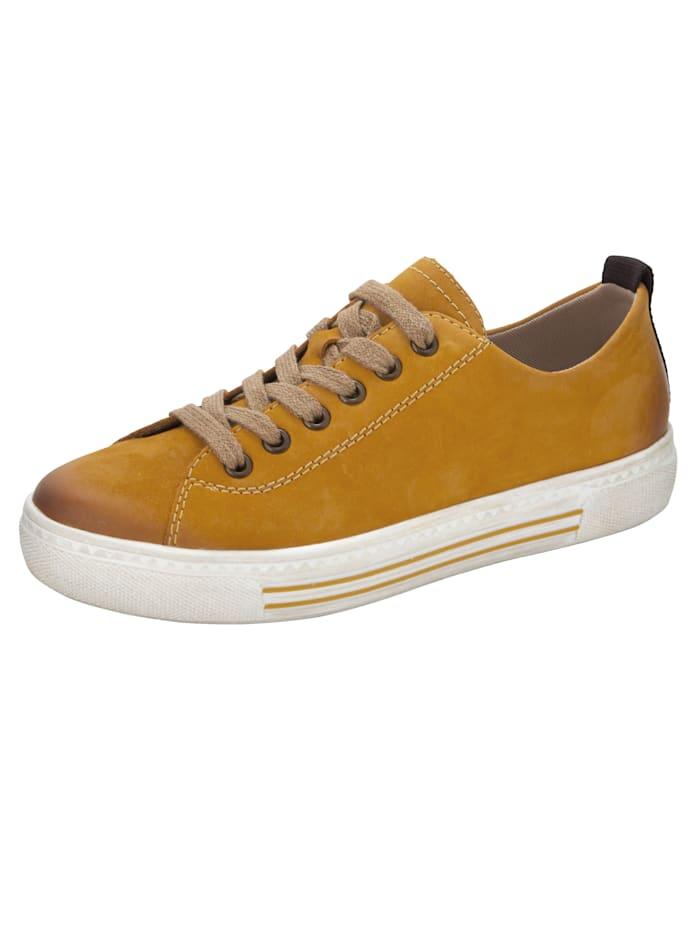 Remonte Sneaker met SoftFoam binnenzool, Mosterdgeel