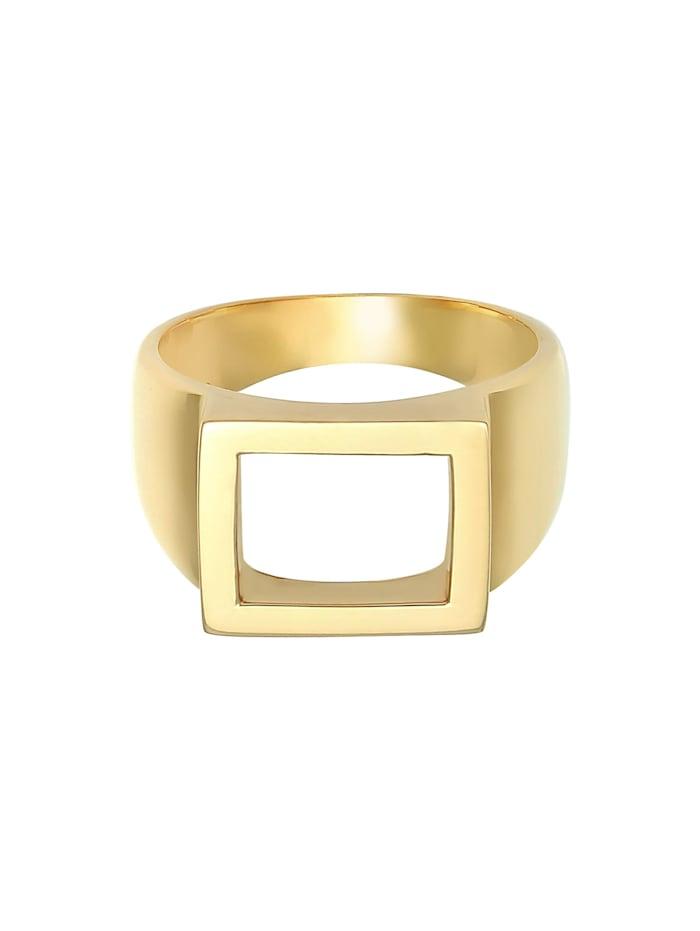 Ring Siegelring Herren Rechteckig 925 Silber