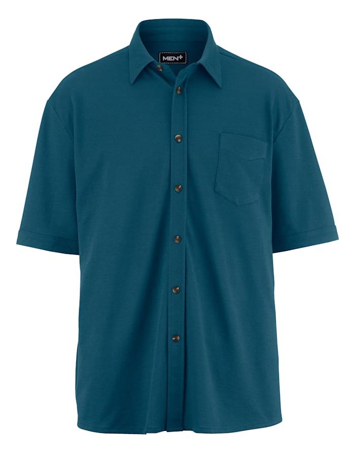 Men Plus Pikéskjorta med extra plats för magen, petrol