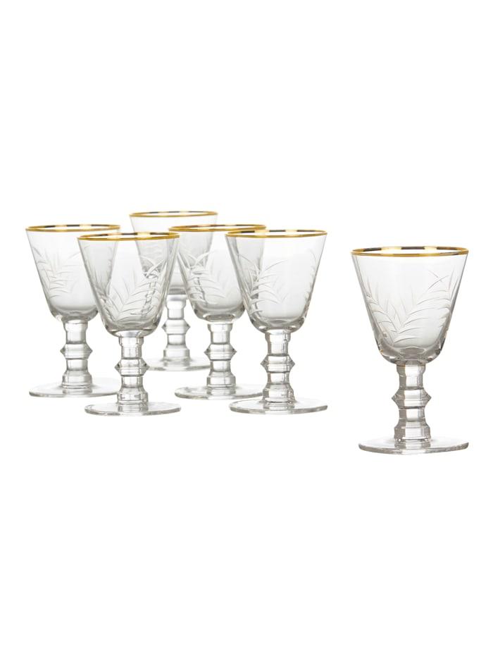IMPRESSIONEN living Rotweinglas-Set, 6-tlg., klar/gold