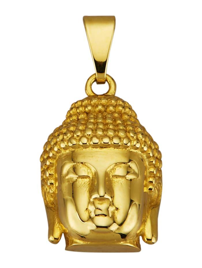 Hanger Boeddha van 9 kt., Geelgoudkleur