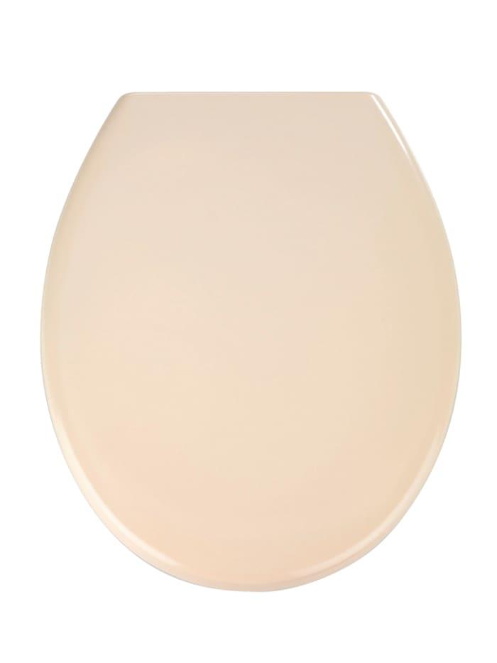 Wenko Premium WC-Sitz Ottana Beige, mit Absenkautomatik, Beige, Beige, Befestigung: Silber matt