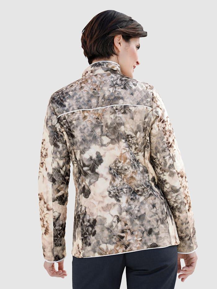 Gewatteerde jas met bloemenprint