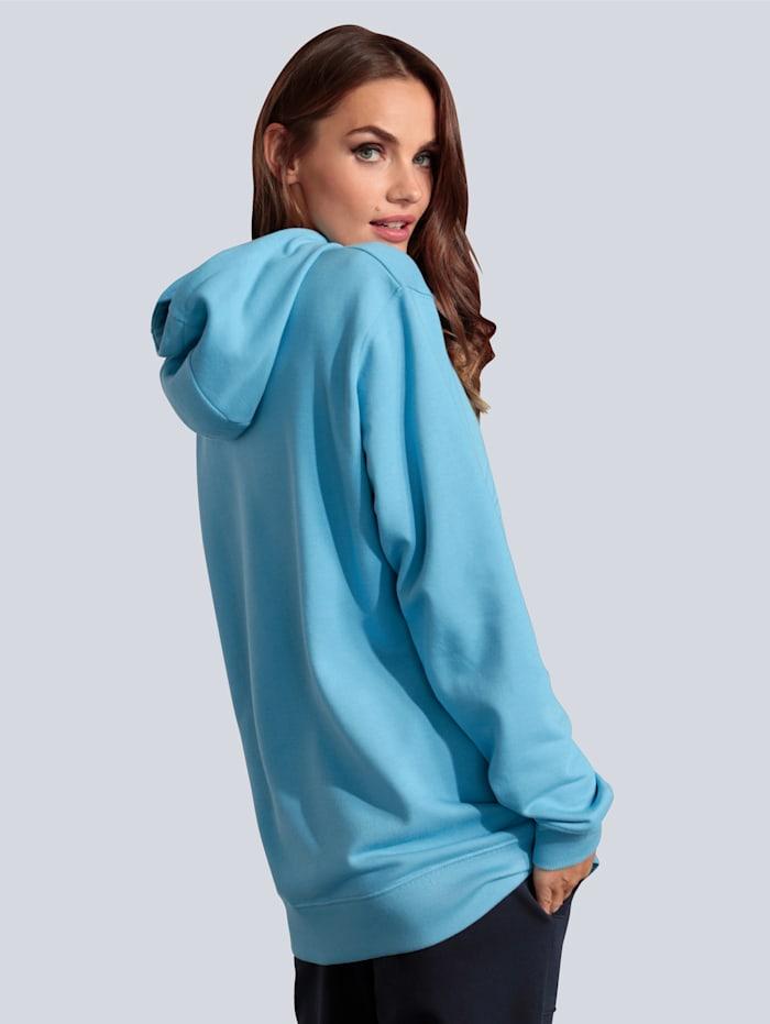 Sweatshirt mit gummiertem Silhouettenmotiv