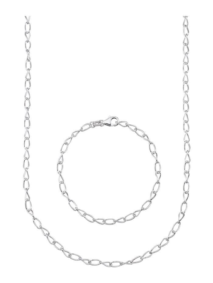 Halsband & armband i silver 925, Silverfärgad