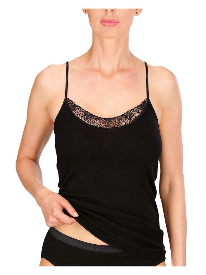 Naturana Damen Unterhemd, schwarz