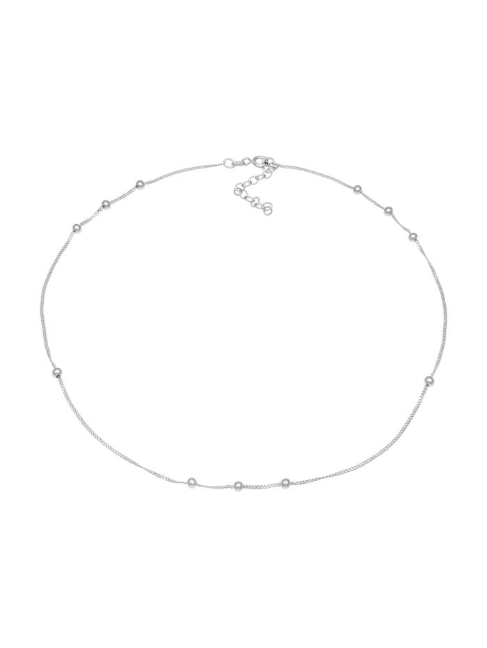 Halskette Choker Panzer Kugeln Beads Rund 925 Silber