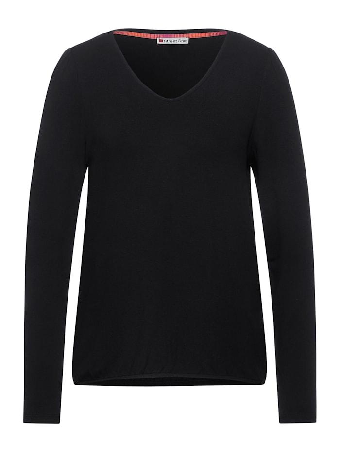 Street One Shirt mit Puff-Ärmeln, dark shaded grey